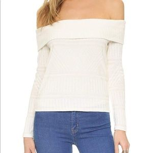 NWOT Ella Moss Lia Off Shoulder knit blouse M